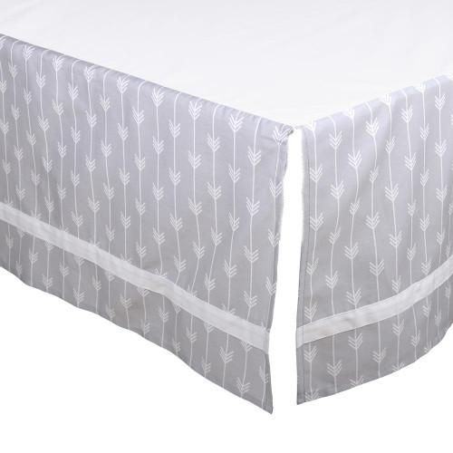 Grey Arrows Crib Dust Ruffle