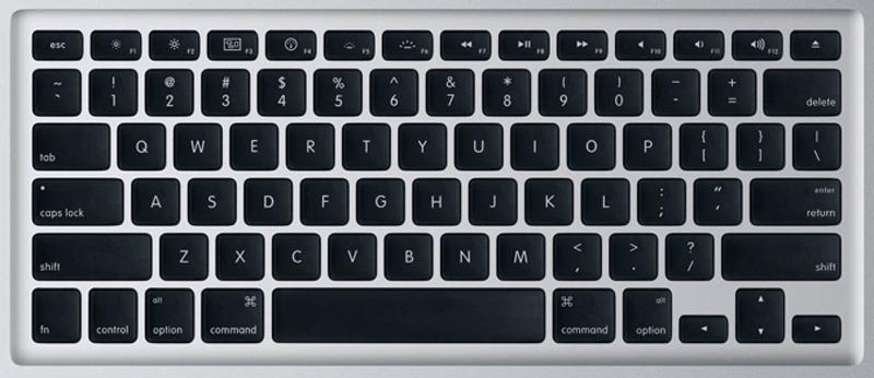Apple Unibody Black MacBook PRO Laptop Keys