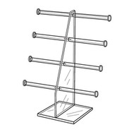 "4 Tier Jewelry Display, 10 1/2""w x 13 1/2""h"
