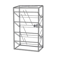 "4 Interior Shelves Showcase 24""h"
