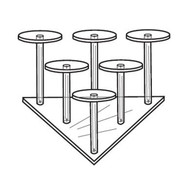 6 Pedestal Grouping, Triangle