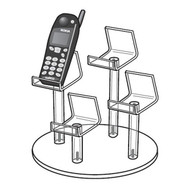 "4 Cell Phone Mini Easel Display, 9""dia"