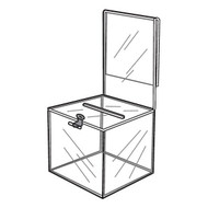 Ballot Box With Sign Holder