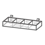 Acrylic Gridwall Divided Trays