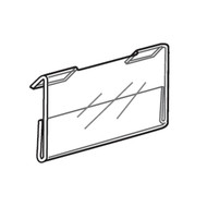 Acrylic Gridwall Horizontal Sign Holders (Economy)