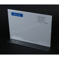 "Sign Holder 8-1/2"" H X 11"" W Acrylic Bottom Loading Signholder - Perfect Display"