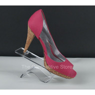 "Acrylic Curled Heel Rest 4""H Shoe Display - Perfect Countertop Display"