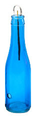 Shorties™ Glass Smoking Bottle - Bright Blue