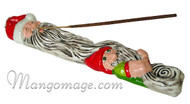 Ceramic Santa & Elf Holiday Incense Burner