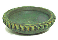 Green Ceramic Incense Cone Burner