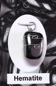 Hematite Sterling Silver Wire-Wrapped Stone Pendant