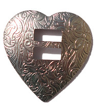 Heart Concho - Nickel