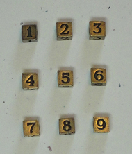 Number Beads - Antique Bronze Finish