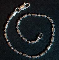"Sterling Silver 7"" One+One 2.2mm Bracelet"