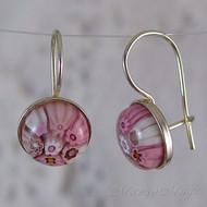 Pink Millefiori Earrings