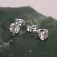 Prasiolite (Green Amethyst) Sterling Silver Stud Earrings