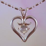 Labradorite Sterling Silver Heart Pendant