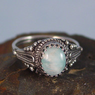 Blue Aragonite Sterling Silver Ring