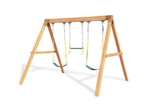 Free-Standing Swingbeam With Swings - Swing Set Kits and Plans from ...