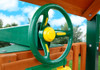 Outdoor side view of Rally Racing Wheel with working horn from Plan-It-Play
