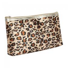 Leopard Pouch with Mirror