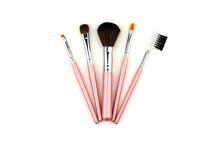 Mini Pink Eco Travel Brush Set