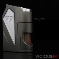 "Vicious Ant - ""Vanguard, The Gargoyle (Gunmetal Grey)"" Metal SX475J 18650 Bottom Feed Mod"