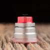 "Nick Ricotta Customs - ""Beauty Ring / Drip Tip Set"" for Typhon, Clear Neon Pink"