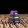 "Nick Ricotta Customs - ""Beauty Ring / Drip Tip Set"" for Armor RDA, Clear Purple"
