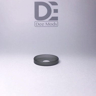 "Dee Mods - ""Shorty V2 Black Frosted PMMA Beauty Ring"""