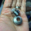 "Adler Industries - ""Sand Blasted Matte Finish Titanium Top Cap for Mikro BF RDA"""