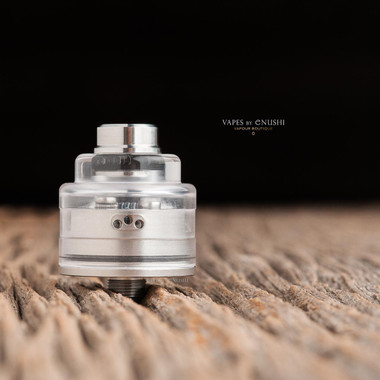"""Bell Vape by Chris Mun - """"Bell Cap for Le Supersonic by Vaponaute"""" shown attached to Le Supersonic deck and JMK Bub- drip tip which are NOT included in this sale. This sale is only for the cap."""