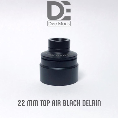 """Dee Mods - """"Top Airflow Cap, 22mm Black Delrin for Solo RDA"""""""