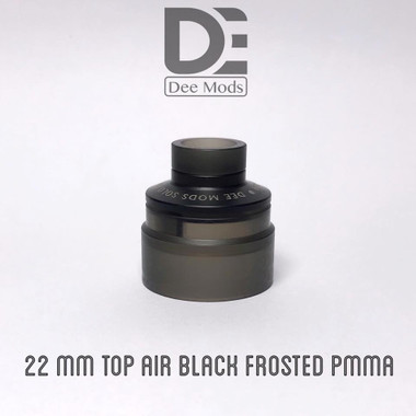 """Dee Mods - """"Top Airflow Cap, 22mm Black Frosted for Solo RDA"""""""