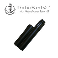 "Squid Industries - ""Double Barrel V2.1 with PeaceMaker Tank Kits"" (Flat Black)"
