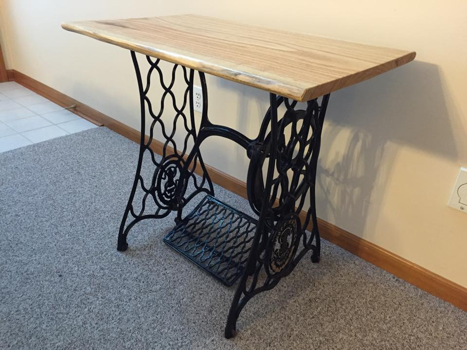 project feature singer sewing machine table top urban lumber company. Black Bedroom Furniture Sets. Home Design Ideas