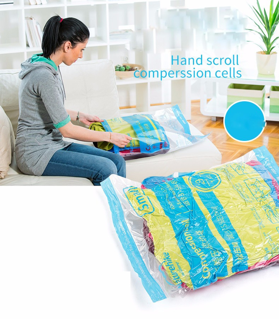 Hand Scroll Vacuum Clothes Storage Bags