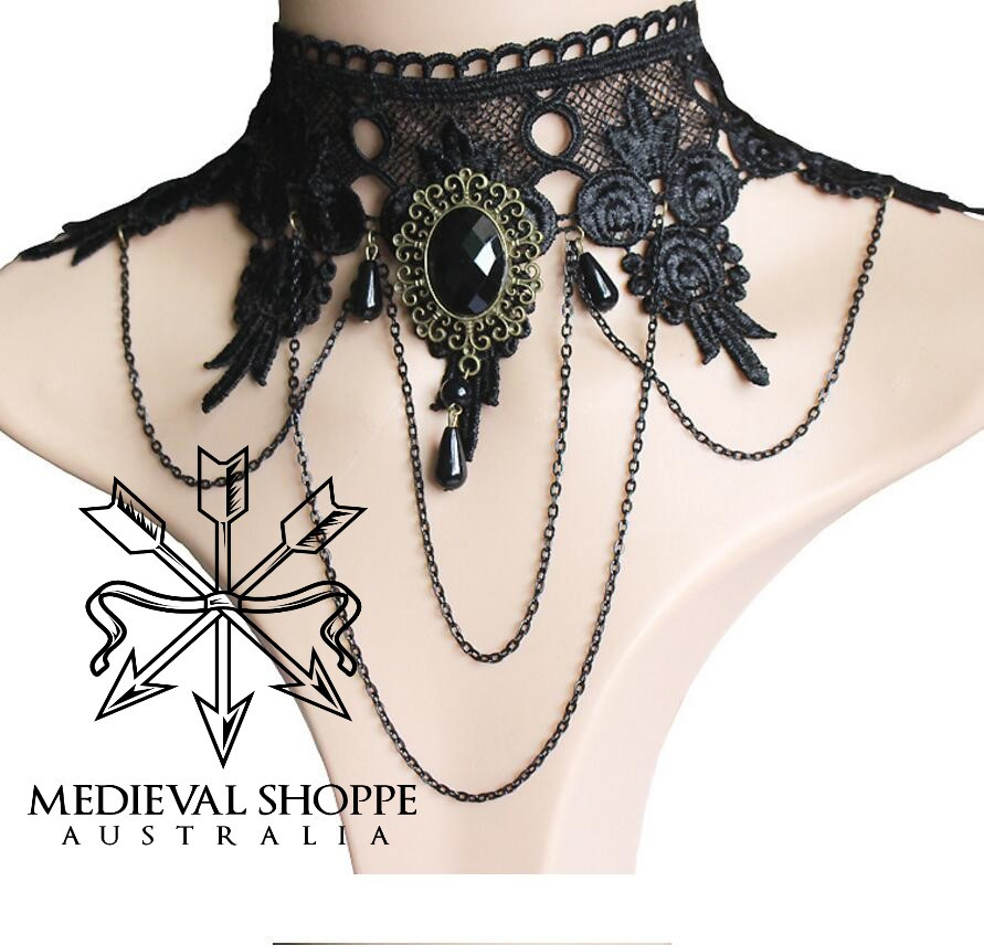 Steampunk Drop Lace Choker