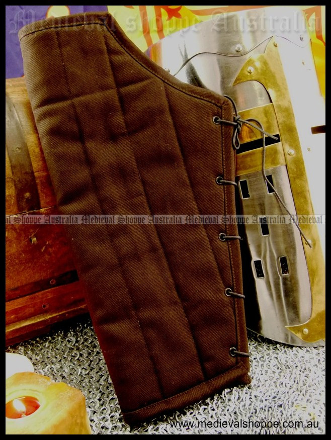 Padded Greaves - Shin Guards (Brown)