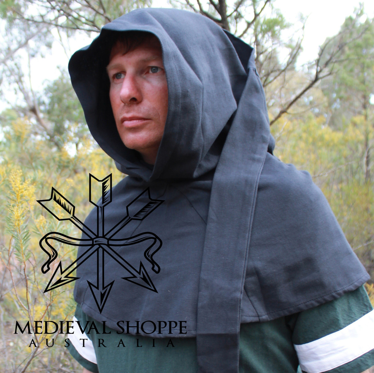 Black Liripipe Hood
