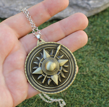 Large Sun & Spear Martell Pendant