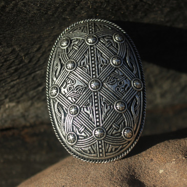 Viking Age oval brooch in Jelling style