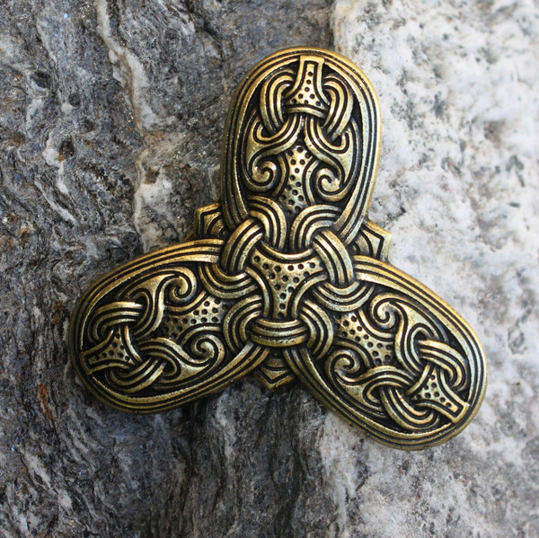 Viking Trefoil Brooch (Bronze)