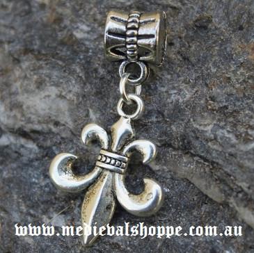 Silver Plated French FLEUR-DE-LIS  pendant