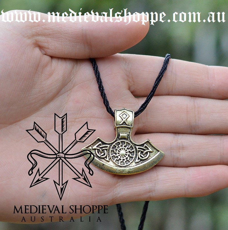 Black Sun Axe Head Pendant