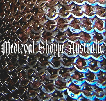 "Titanium Riveted Chain Mail ""Bishop's Collar"" (Standard)"