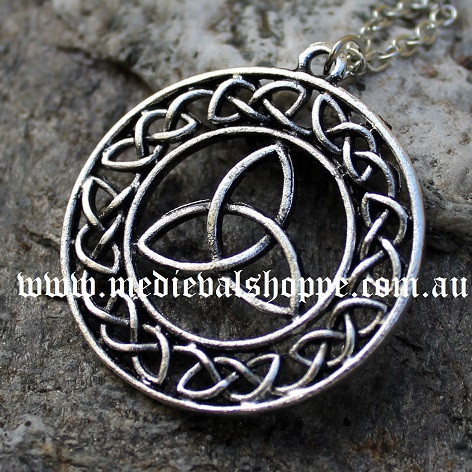 Celtic knotwork triquetra pendant the medieval shoppe celtic knotwork triquetra pendant mozeypictures Image collections