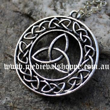 Celtic Knotwork & Triquetra Pendant
