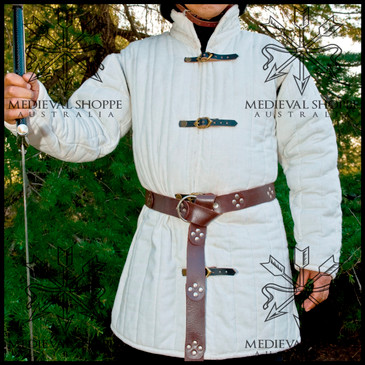 Large Buckle-Up White Gambeson