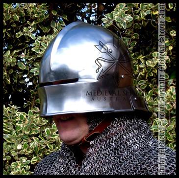 Schallern or Salade Late Medieval Helmet - 16g